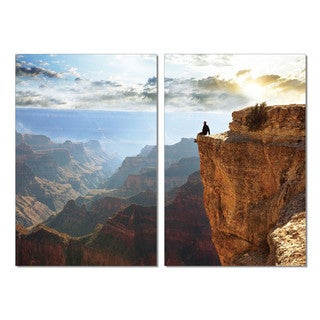 PL Home 'On Top of the World' 2-piece Split-canvas Print