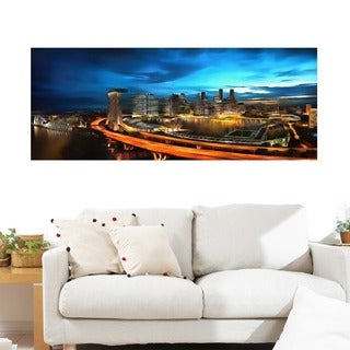 Singapore Cityscape' Gallery-wrapped Canvas Art