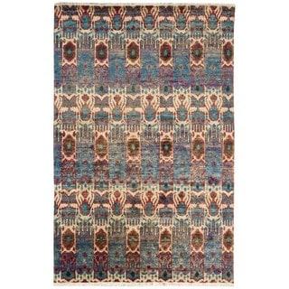 Nourison Sari Silk Abstract Multicolor Rug (9'9 x 13'9)