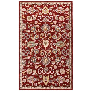 Hand Tufted Salvador Red Wool Rug (5'x8')
