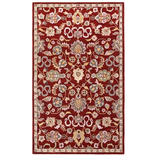 Hand Tufted Salvador Red Wool Rug (4'x6')