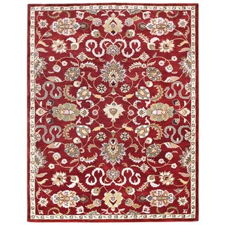 Hand Tufted Salvador Red Wool Rug (8'x11')