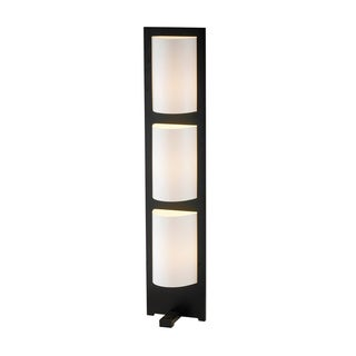 Adesso Zen Walnut and Frosted Glass 3-light Floor Lamp