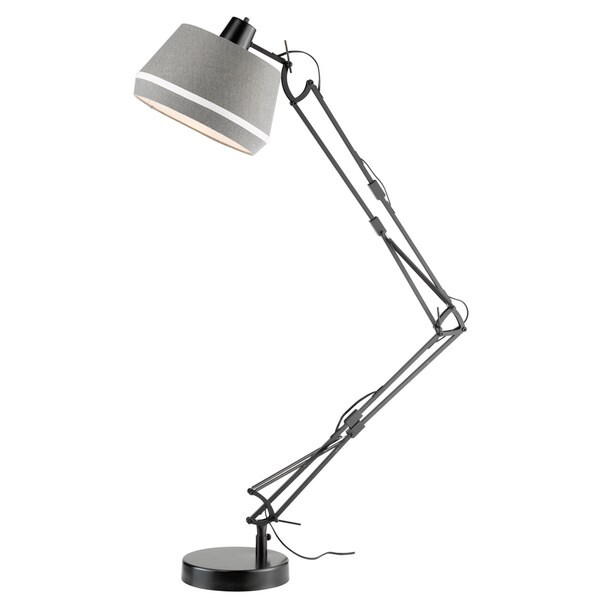 Grant Black/ Linen Shade 1-light Floor Lamp