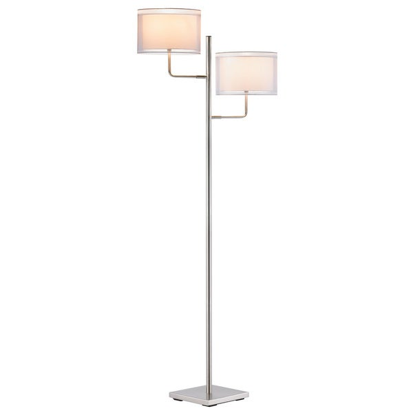 Harlow Satin Steel 1-light Floor Lamp