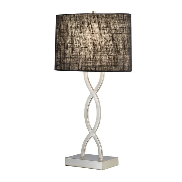 Juliette Black Rectangular 1-light Table Lamp