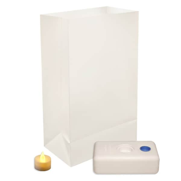 Battery Operated LED Luminaria White Kit (Set of 12)