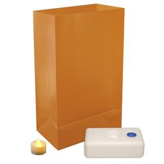 Battery Operated LED Tan Luminaria Kit (Set of 12)