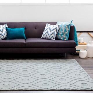 Hand-Woven Abi Tone-on-Tone Wool Rug (2' x 3')