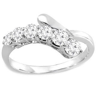 14k White Gold 3/4ct TDW Diamonds Journey Ring (H-I, I1-I2)