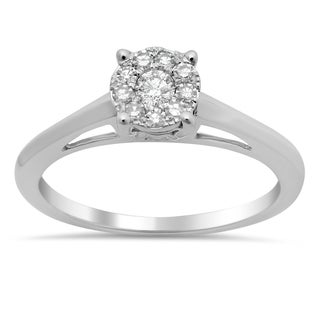 14k White Gold 1/4ct TDW Diamond Solitaire Engagement Ring (F-G, SI1-SI2)
