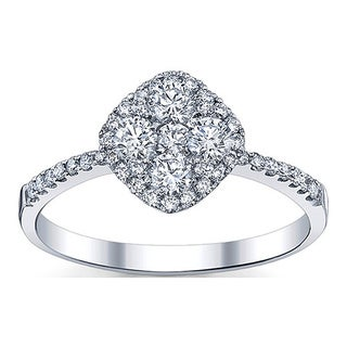 18k White Gold 3/4ct TDW Diamond Engagement Ring (G-H, SI1-SI2)