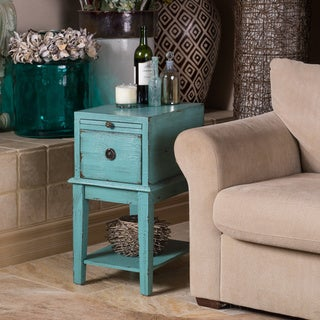 Christopher Knight Home Bayberry Blue Rub-through One Drawer Chest