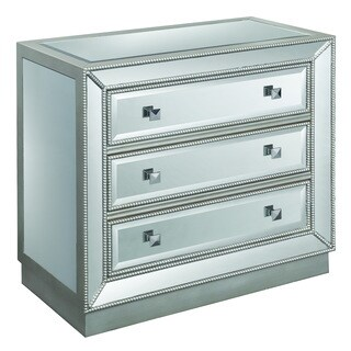 Christopher Knight Home 'Elsinore' Silvertone Mirrored Three-drawer Chest