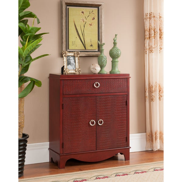 Christopher Knight Home Katrine Burnished Red Double-door Cabinet