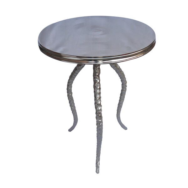 Christopher Knight Home Nickel Hammered Metal Accent Table