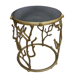 Christopher Knight Home Matte Brass Metal Accent Table