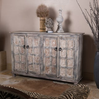 Christopher Knight Home Hansi White with Grey Credenza