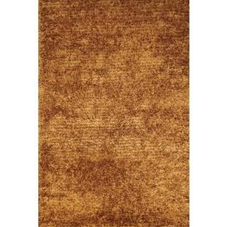 Handmade Gold Shag Rug (3'1 x 4'10)