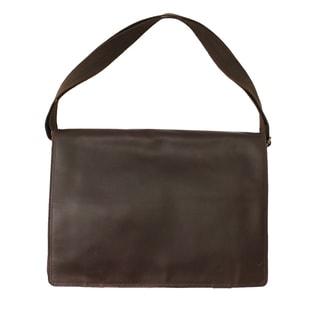 New Yorker Full Grain Cowhide Leather Messenger Bag