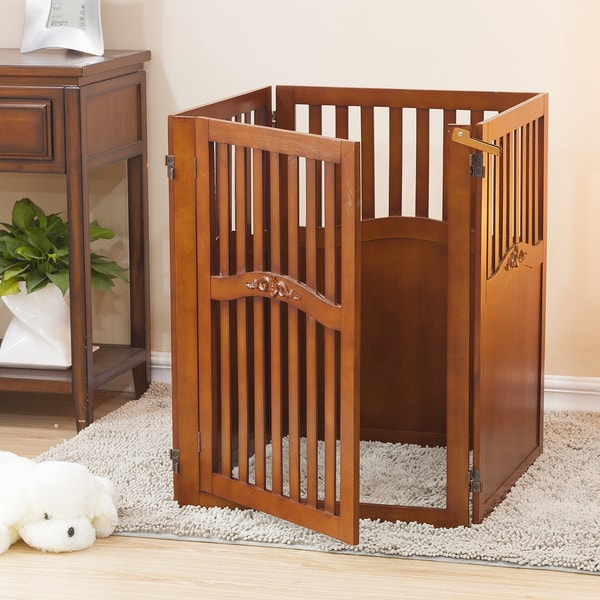 Parka Convertible 4-panel Wooden Pet Gate