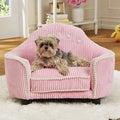 Enchanted Home Pet Laine Pink Corduroy Headboard Pet Bed