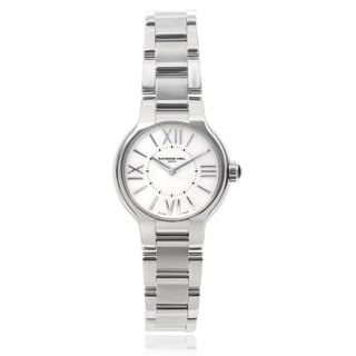 Raymond Weil 'Noemia' 5927-ST-00907 Stainless Steel Round Face Link Watch