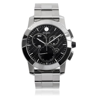 Movado Men's 'Vizio' 0606551 Round Face Stainless Steel Link Watch