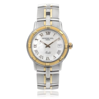 Raymond Weil 'Parsifal' 9540-STG-00908 Stainless Steel Roman Numeral Link Watch