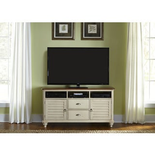 Liberty Cottage Bisque and Natural Pine TV Stand
