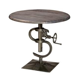 Inverness Round Adjustable Wood/ Metal Table