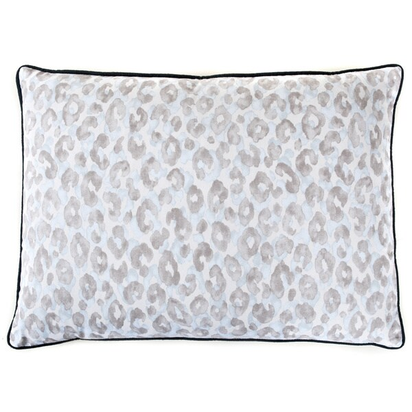 Blue Leopard Decorative Pillow