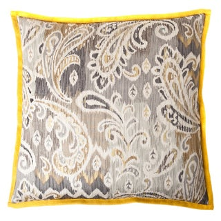 Passion Taupe Yellow Square Decorative Pillow