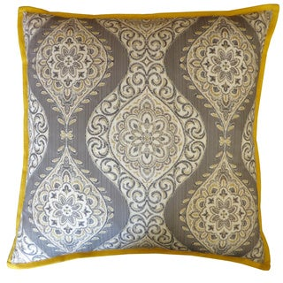 Grey Lunar Square Decorative Pillow