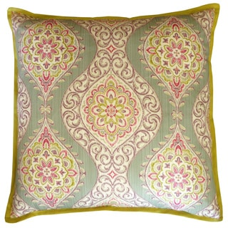 Pink Lunar Square Decorative Pillow