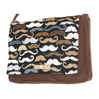 Handmade Medium Brown Mustache Variety Messenger Bag