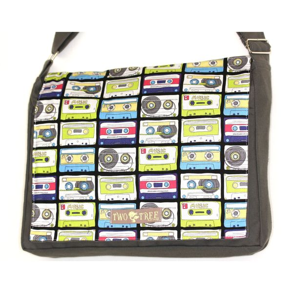 Handmade Medium Grey Pick Your Mix Messenger Bag