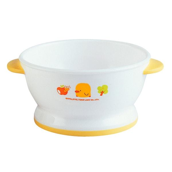 Kid's White/ Yellow Slip-proof Training Bowl