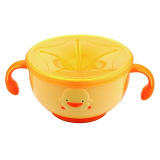 Kid's Yellow Duckling Keep-n-Trap Bowl