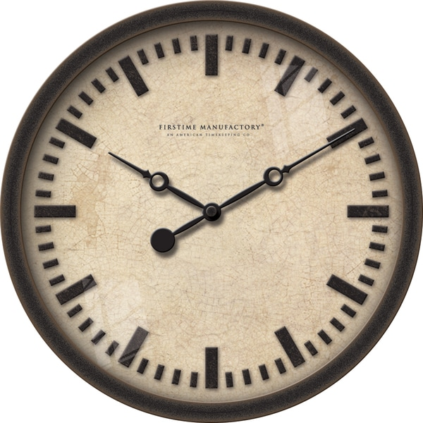FirsTime 10.25-inches Raised Bronze Wall Clock