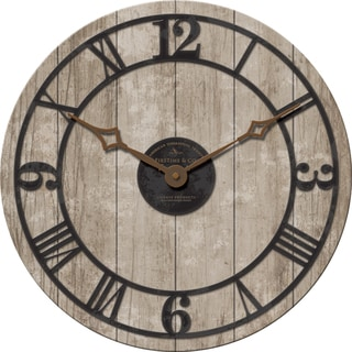 18-inches Reclaimed Whitewash Clock