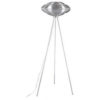 Bella Brushed Aluminum Tripod Floor Lamp