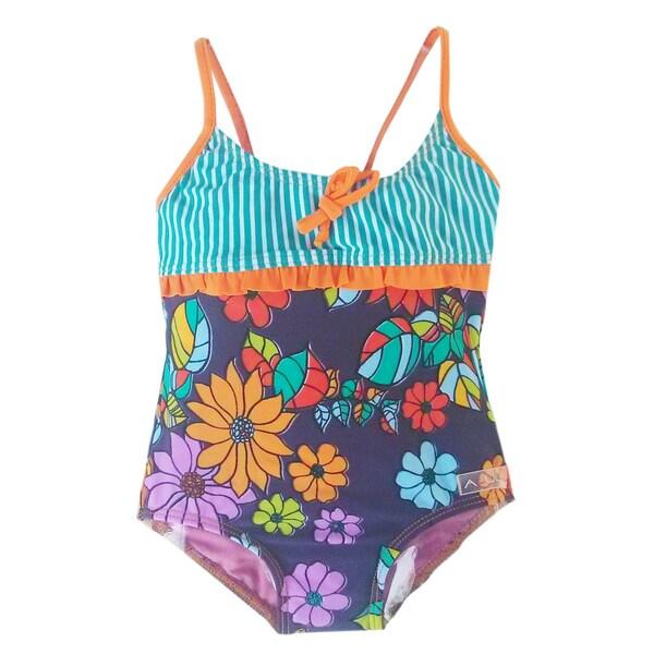 Azul Swimwear Girls' Purple Paradise Infant One Piece