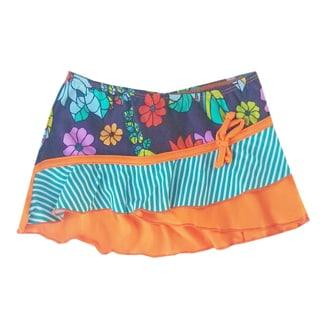 Azul Swimwear Girls' Purple Paradise Swim Skirt