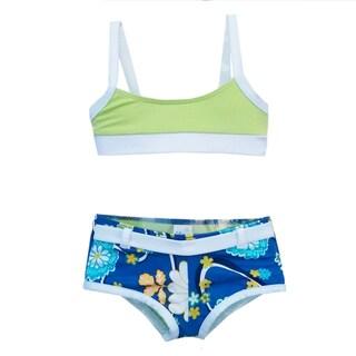 Azul Swimwear Girls' Nod to Mod Short Set