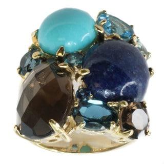 Michael Valitutti Goldplated Silver Multi-gemstone Ring