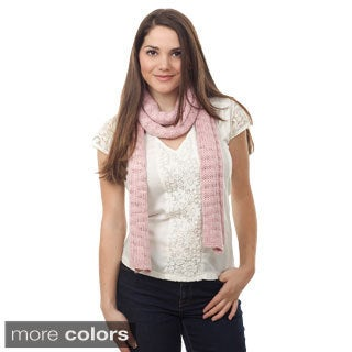 Knitted Scarf with Silver Shimmer