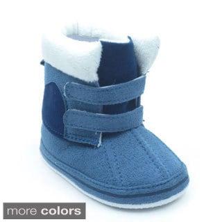 Blue Infant 'P-Boomer' Fleece-lined Booties
