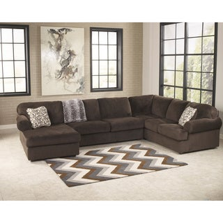 Signature Design by Ashley Jessa Place Chocolate Sectional Sofa