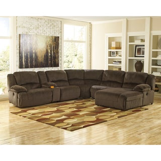 Signature Design by Ashley Toletta Chocolate Sectional Sofa
